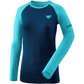 Dynafit Alpine Pro Langærmet T-shirt Damer, blå/turkis